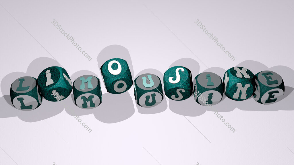limousine text by dancing dice letters