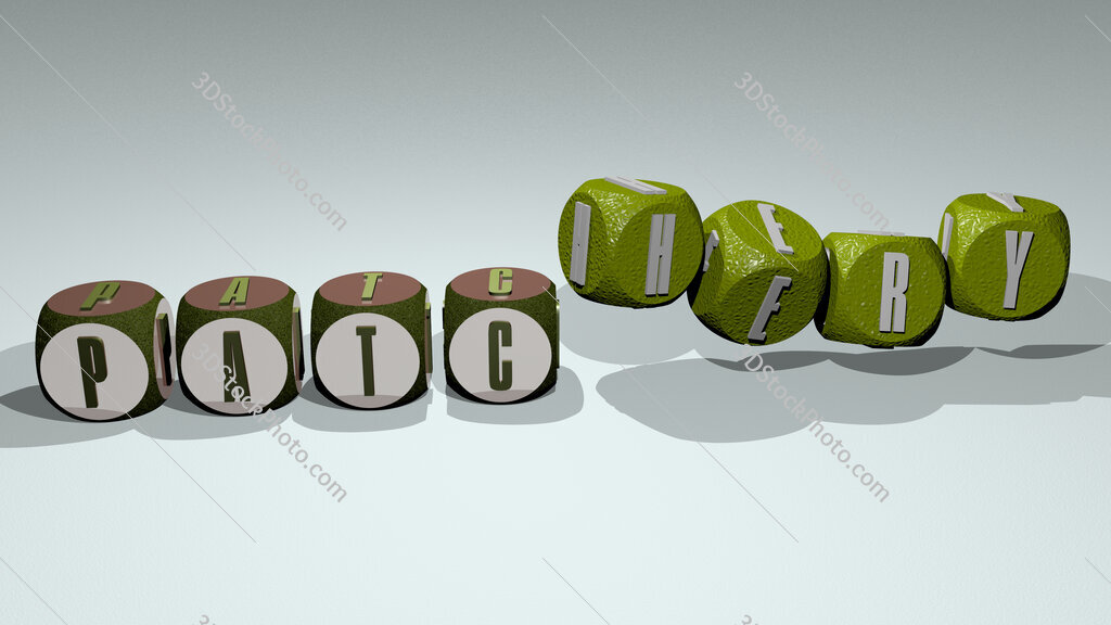 patchery text by dancing dice letters