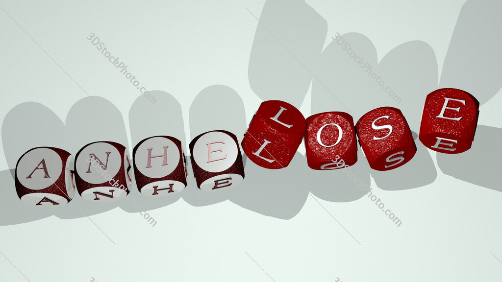 anhelose text by dancing dice letters