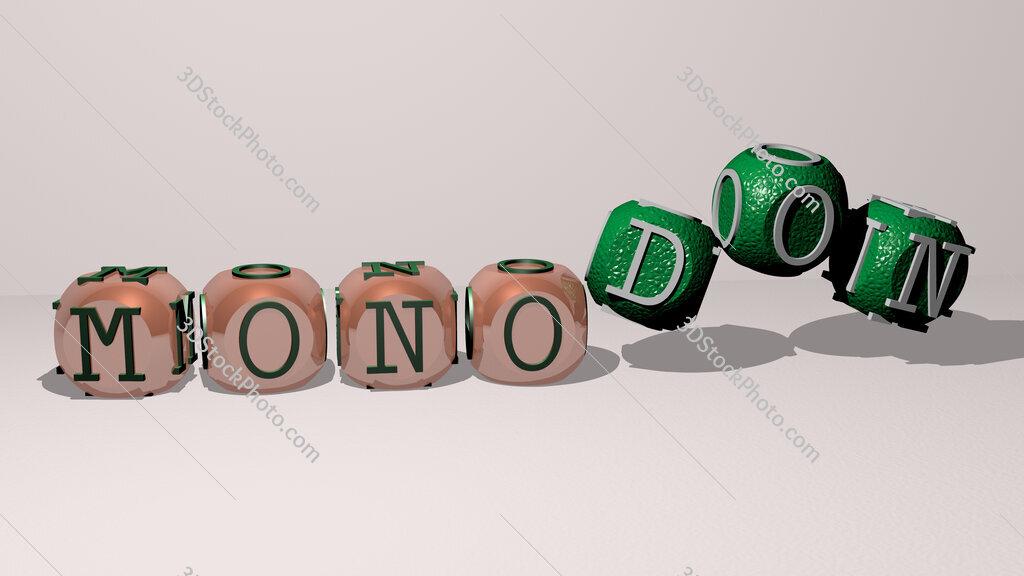 monodon dancing cubic letters
