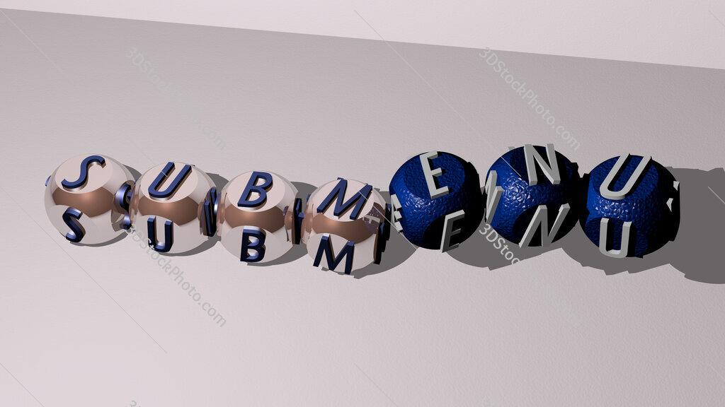 submenu dancing cubic letters