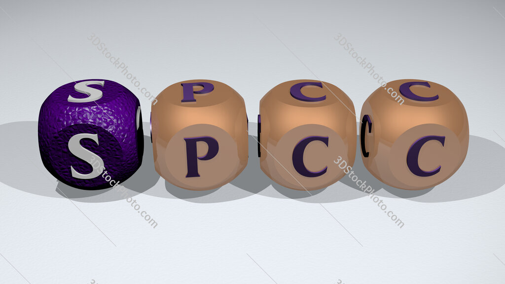 SPCC text of cubic individual letters