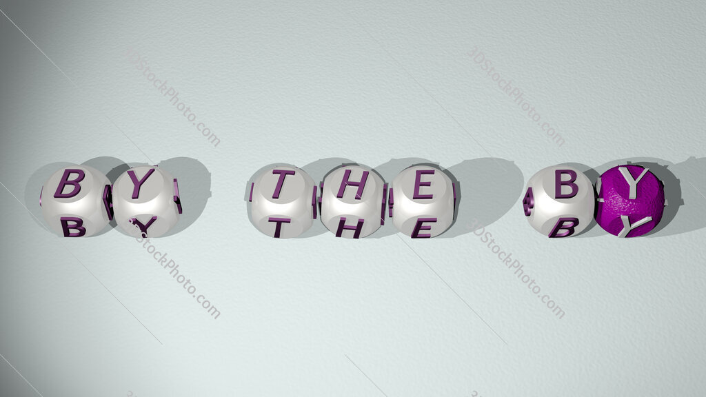 by the by text of cubic individual letters
