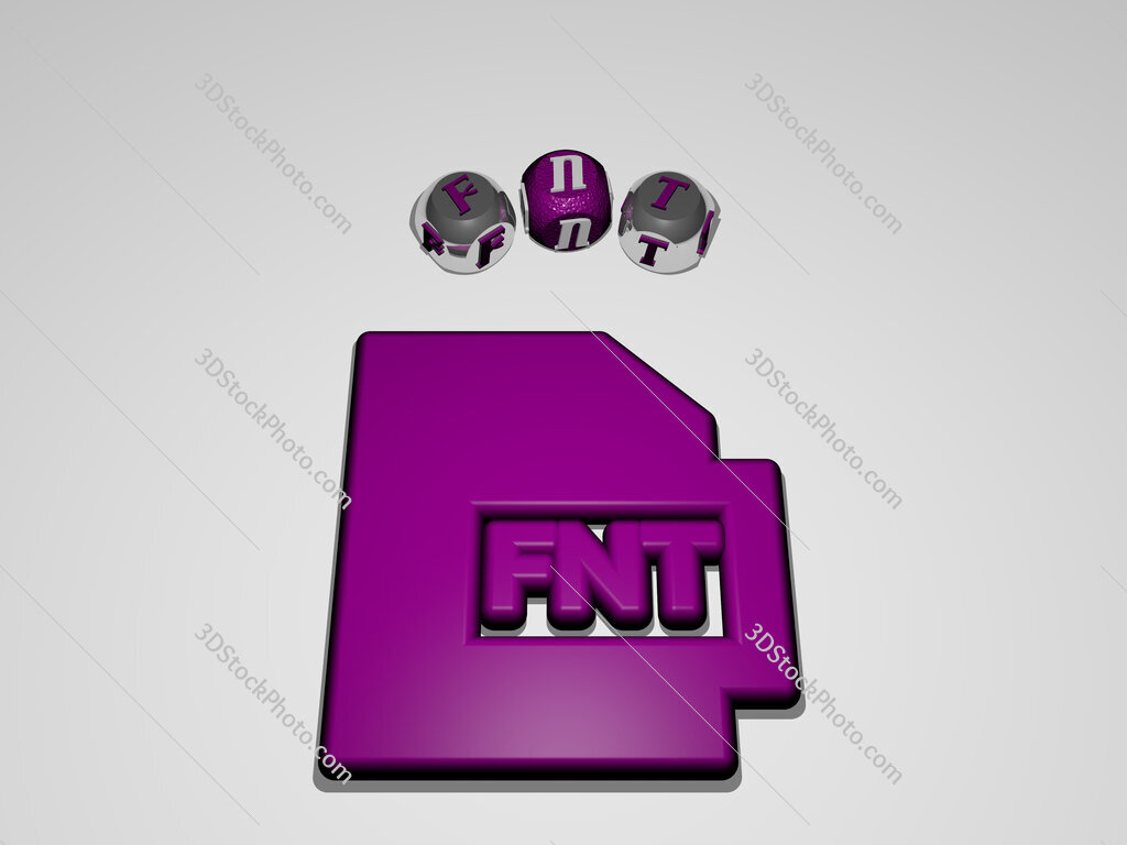 fnt circular text of separate letters around the 3D icon