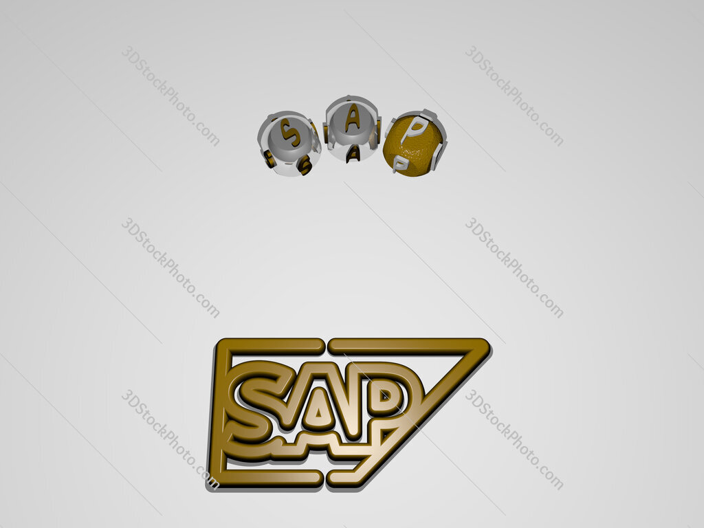 sap circular text of separate letters around the 3D icon