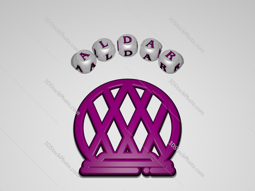 Aldar circular text of separate letters around the 3D icon