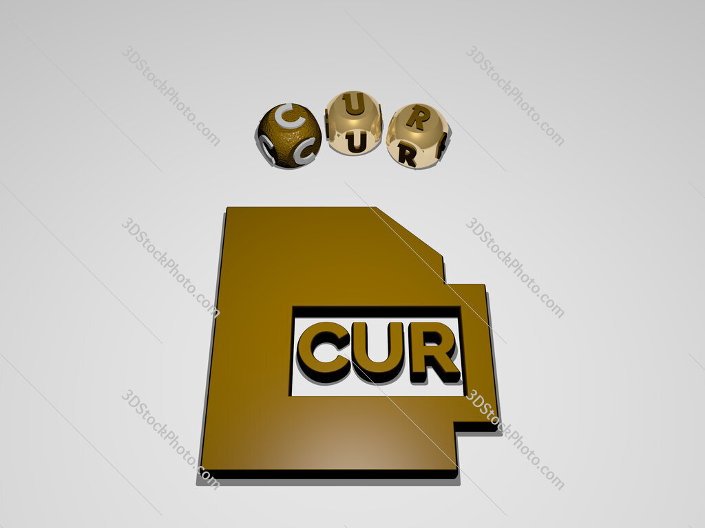 cur circular text of separate letters around the 3D icon