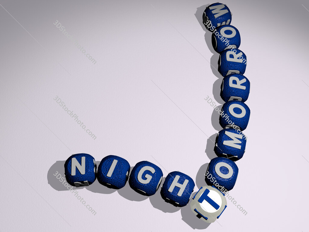 tomorrow night crossword of curved text made of individual letters