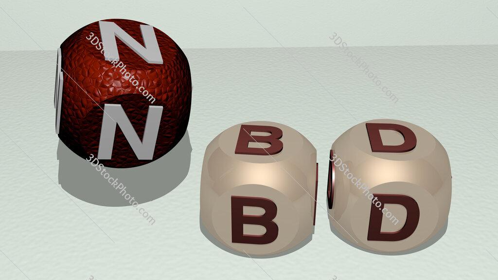 NBD dancing cubic letters