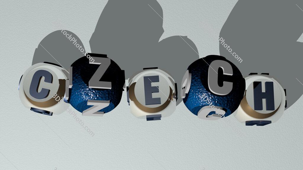 czech dancing cubic letters