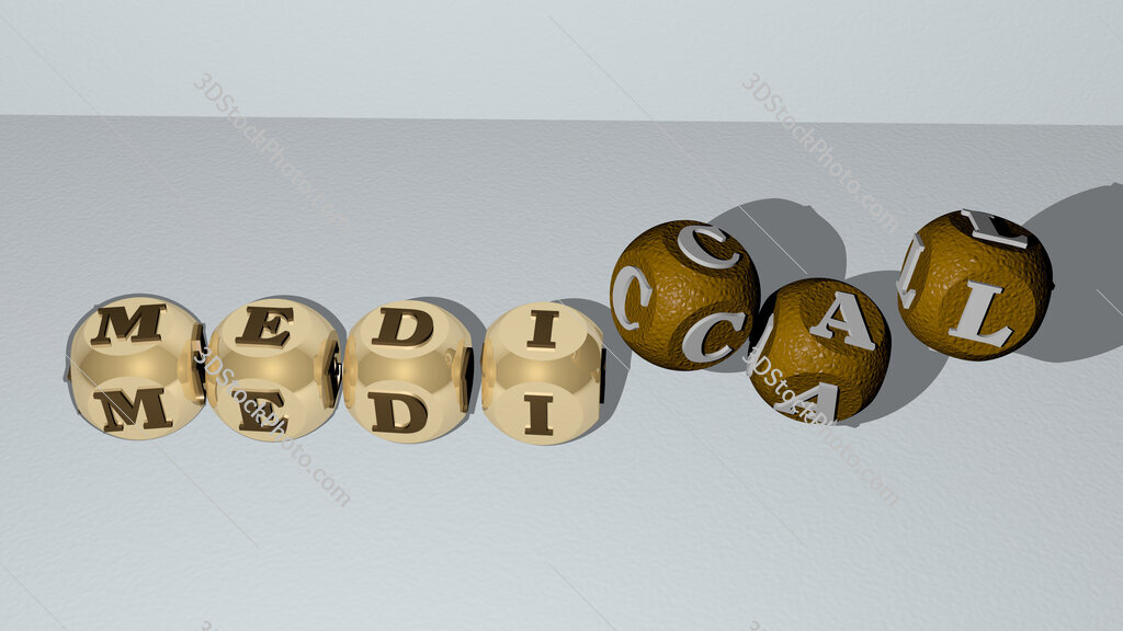 medical dancing cubic letters
