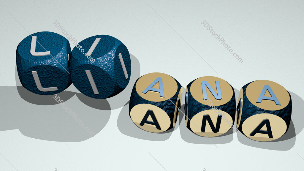 liana text by dancing dice letters