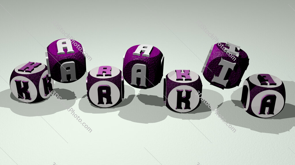 karakia text by dancing dice letters