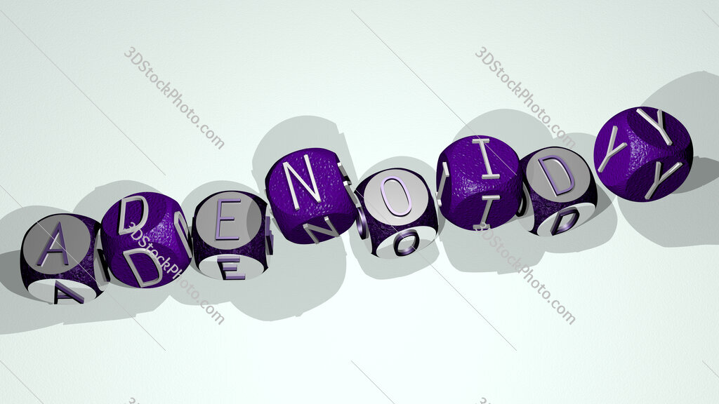 adenoidy text by dancing dice letters