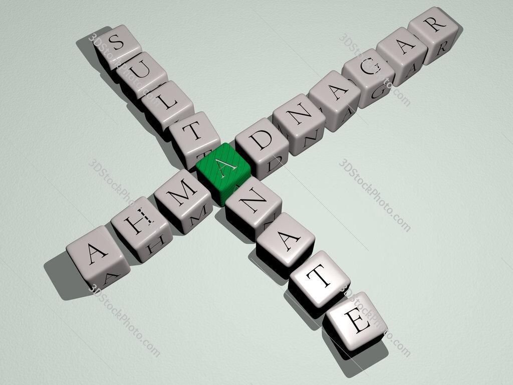 Ahmadnagar Sultanate crossword by cubic dice letters