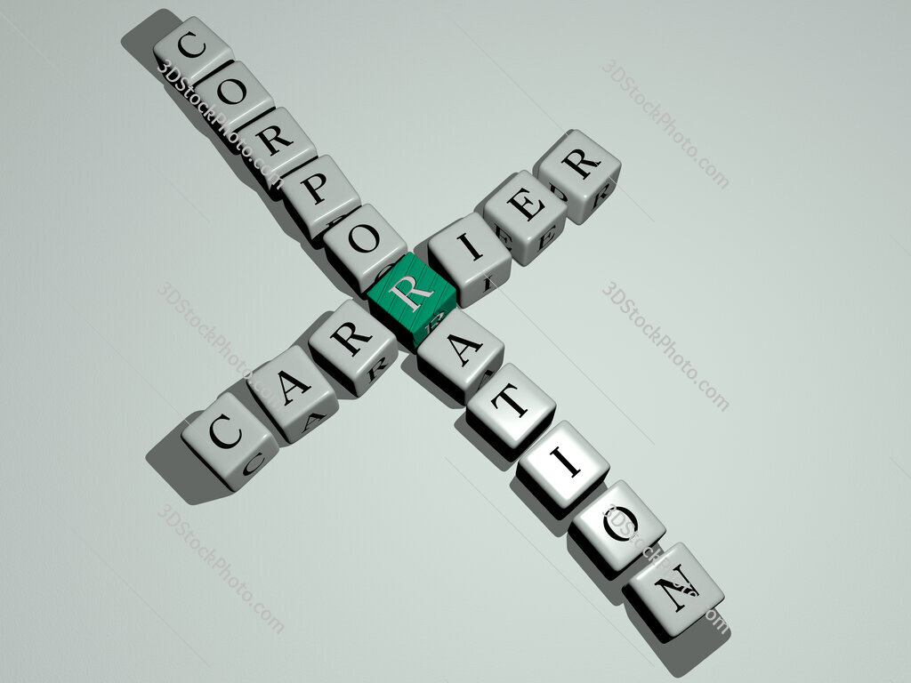 Carrier Corporation crossword by cubic dice letters