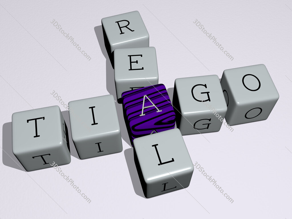 Tiago Real crossword by cubic dice letters