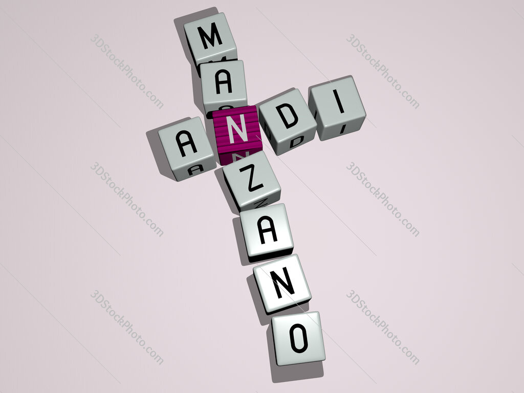 Andi Manzano crossword by cubic dice letters
