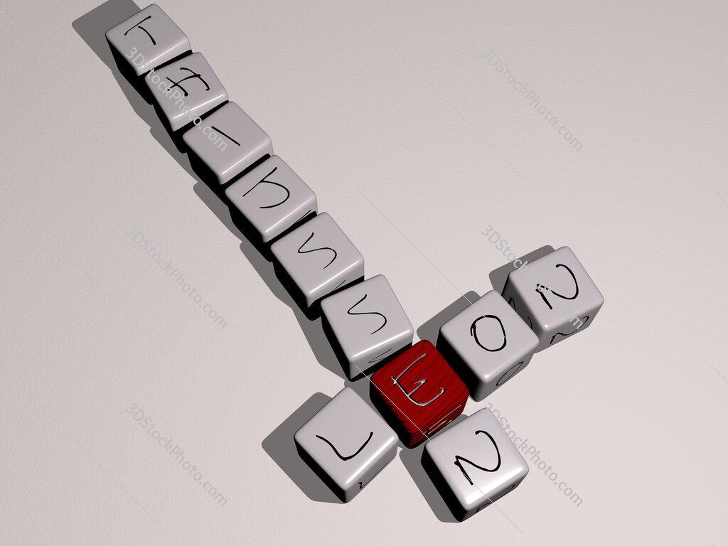 Leon Thijssen crossword by cubic dice letters