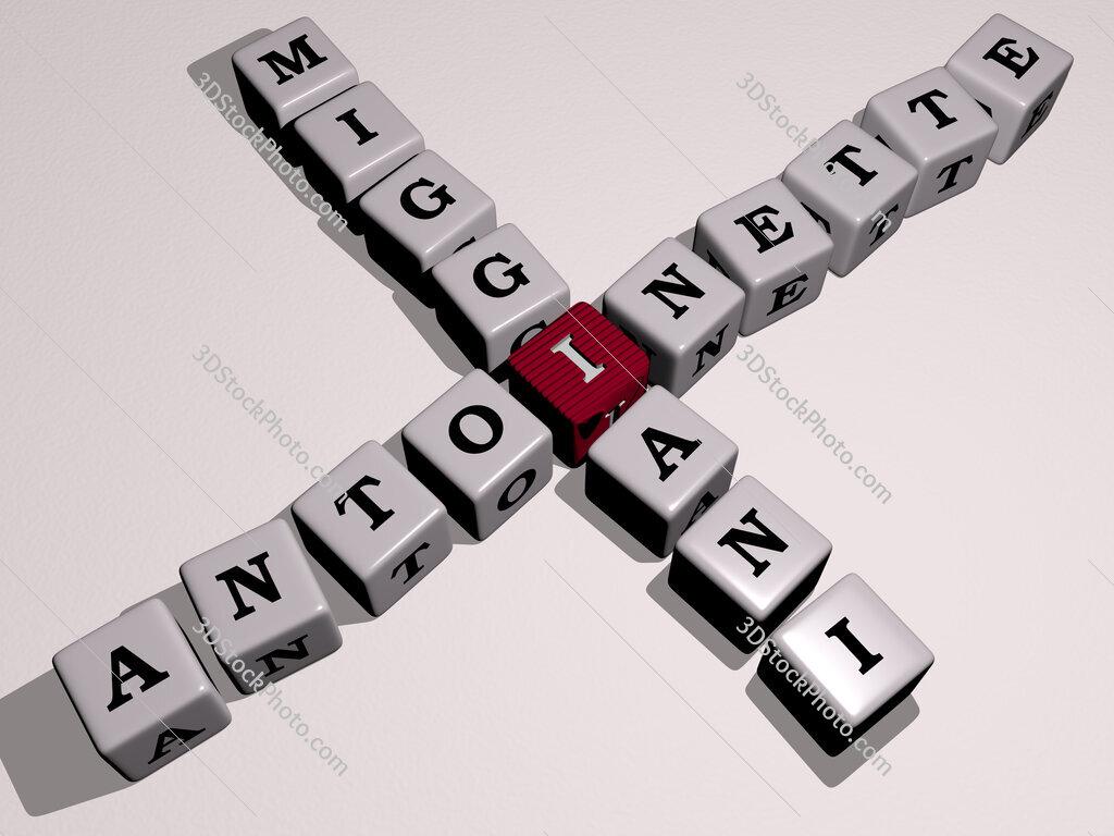 Antoinette Miggiani crossword by cubic dice letters
