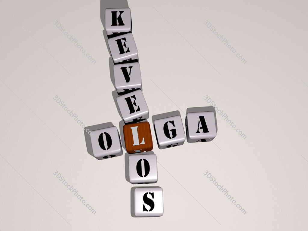 Olga Kevelos crossword by cubic dice letters