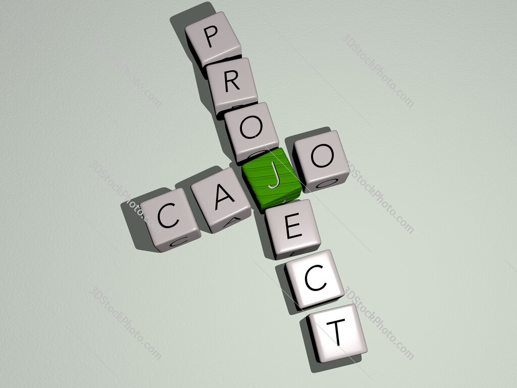 Cajo project crossword by cubic dice letters