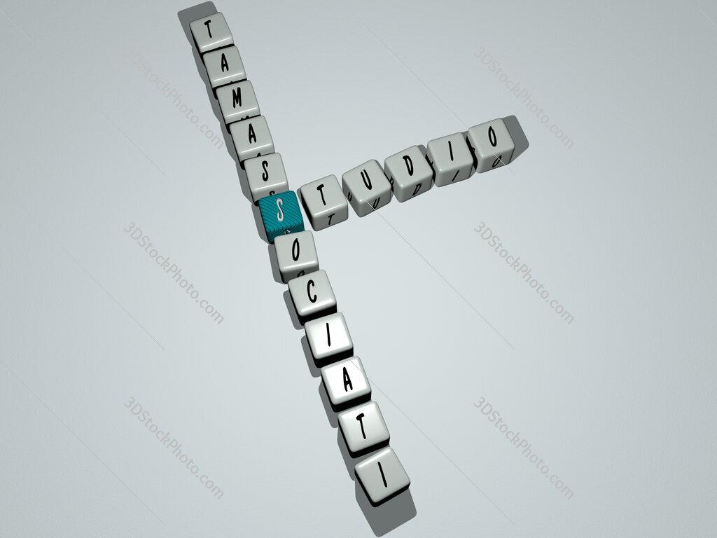 Studio Tamassociati crossword by cubic dice letters
