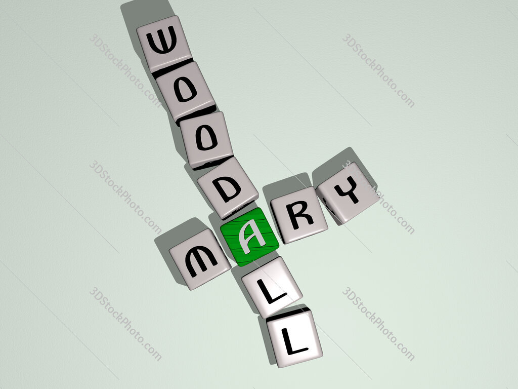 Mary Woodall crossword by cubic dice letters
