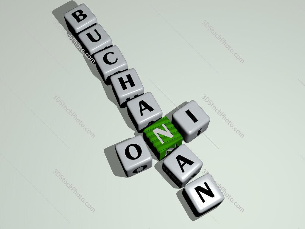 Oni Buchanan crossword by cubic dice letters