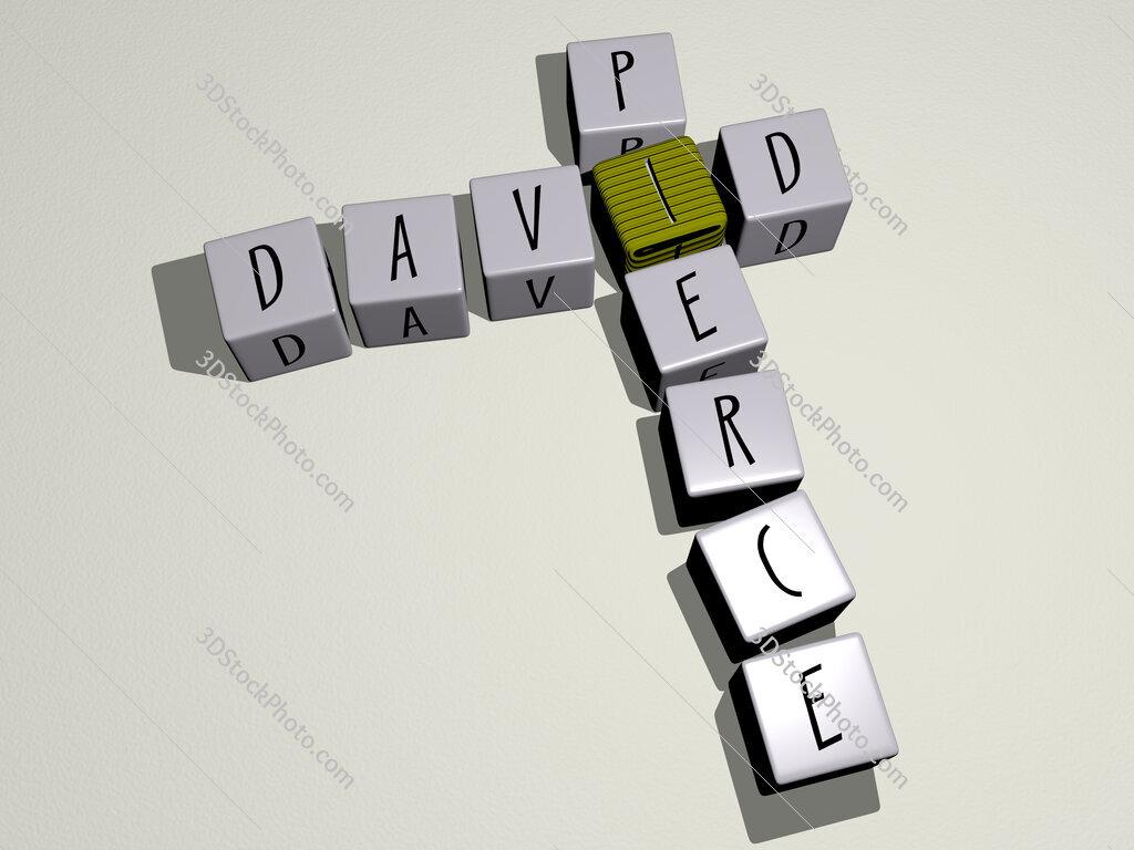 David Pierce crossword by cubic dice letters