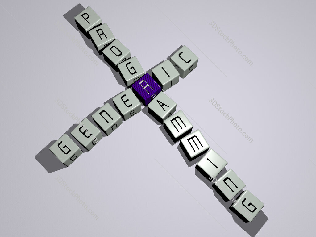 Generic programming crossword by cubic dice letters
