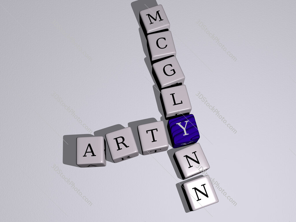 Arty McGlynn crossword by cubic dice letters