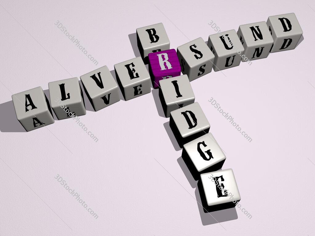Alversund Bridge crossword by cubic dice letters
