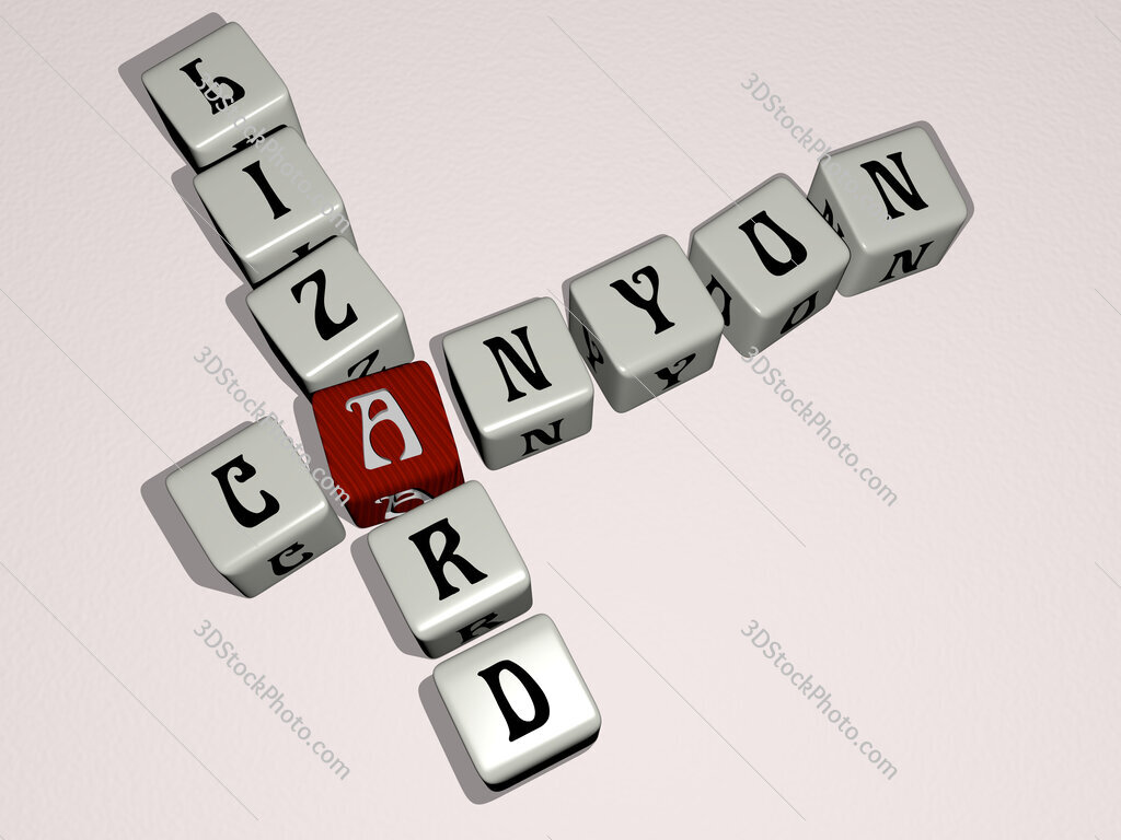 Canyon Lizard crossword by cubic dice letters
