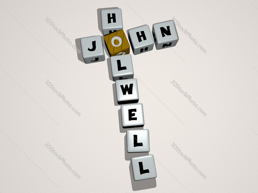 John Holwell crossword by cubic dice letters