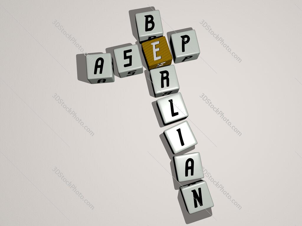 Asep Berlian crossword by cubic dice letters