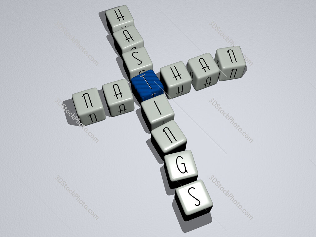 Nathan Hastings crossword by cubic dice letters
