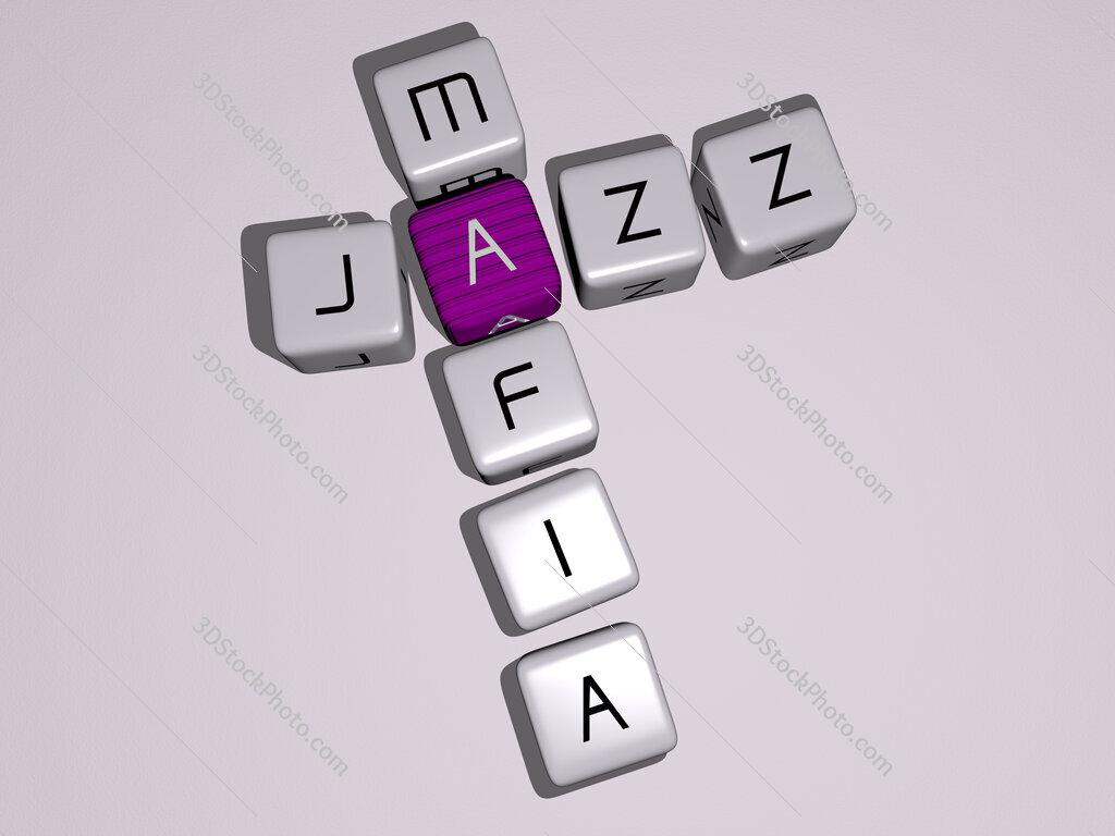 Jazz Mafia crossword by cubic dice letters