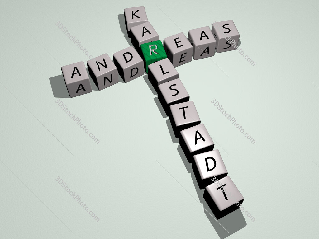 Andreas Karlstadt crossword by cubic dice letters