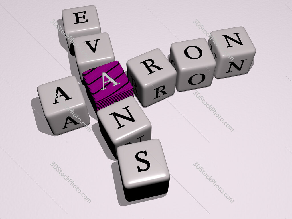 Aaron Evans crossword by cubic dice letters