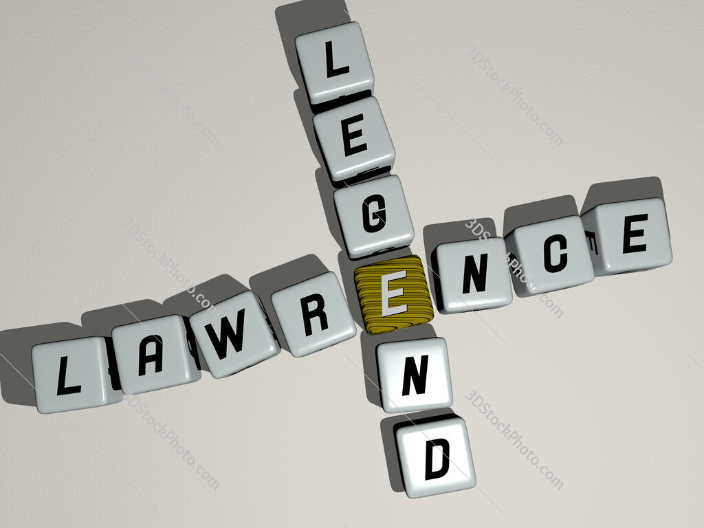 Lawrence Legend crossword by cubic dice letters