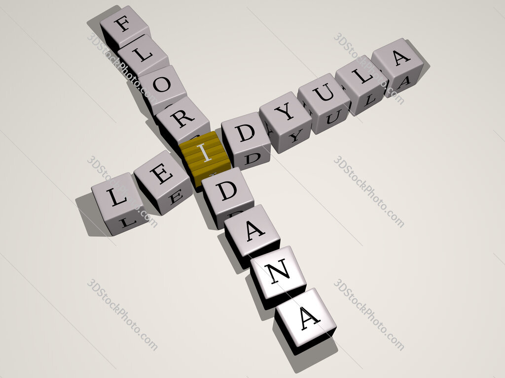 Leidyula floridana crossword by cubic dice letters