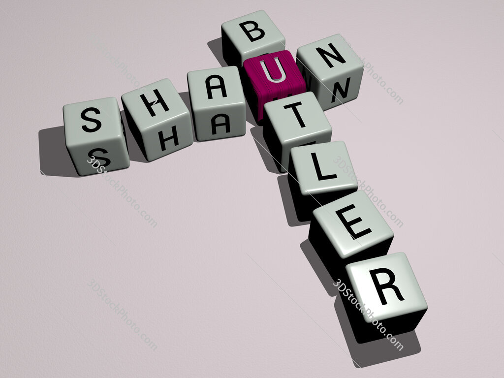 Shaun Butler crossword by cubic dice letters