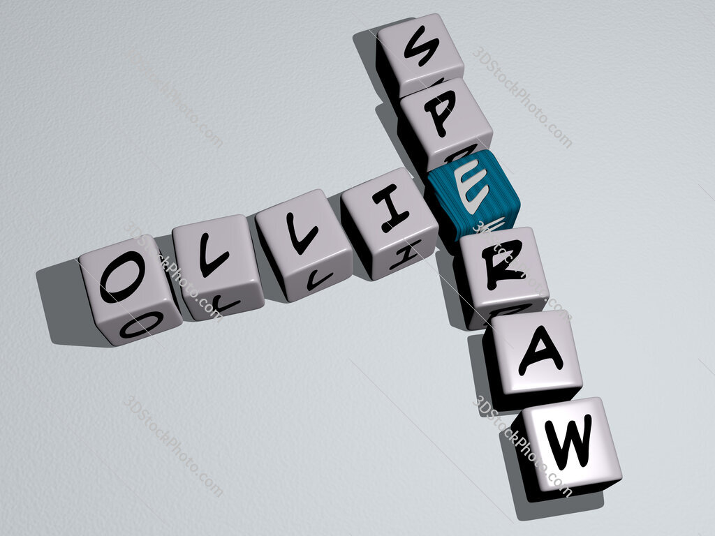 Ollie Speraw crossword by cubic dice letters