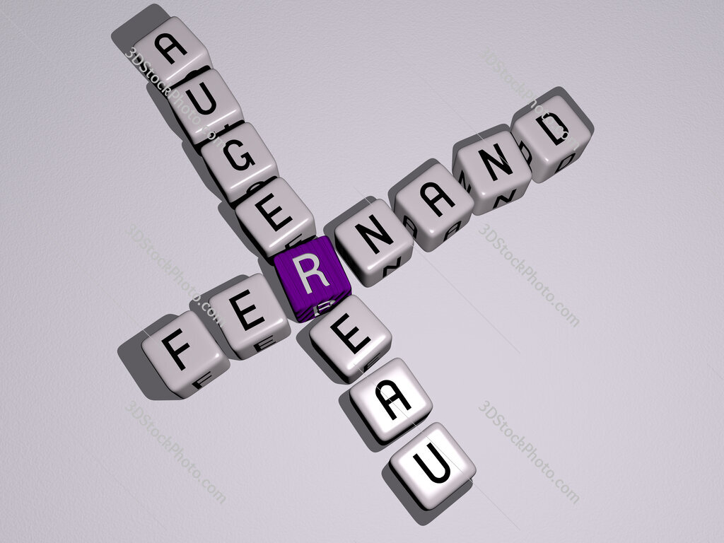 Fernand Augereau crossword by cubic dice letters