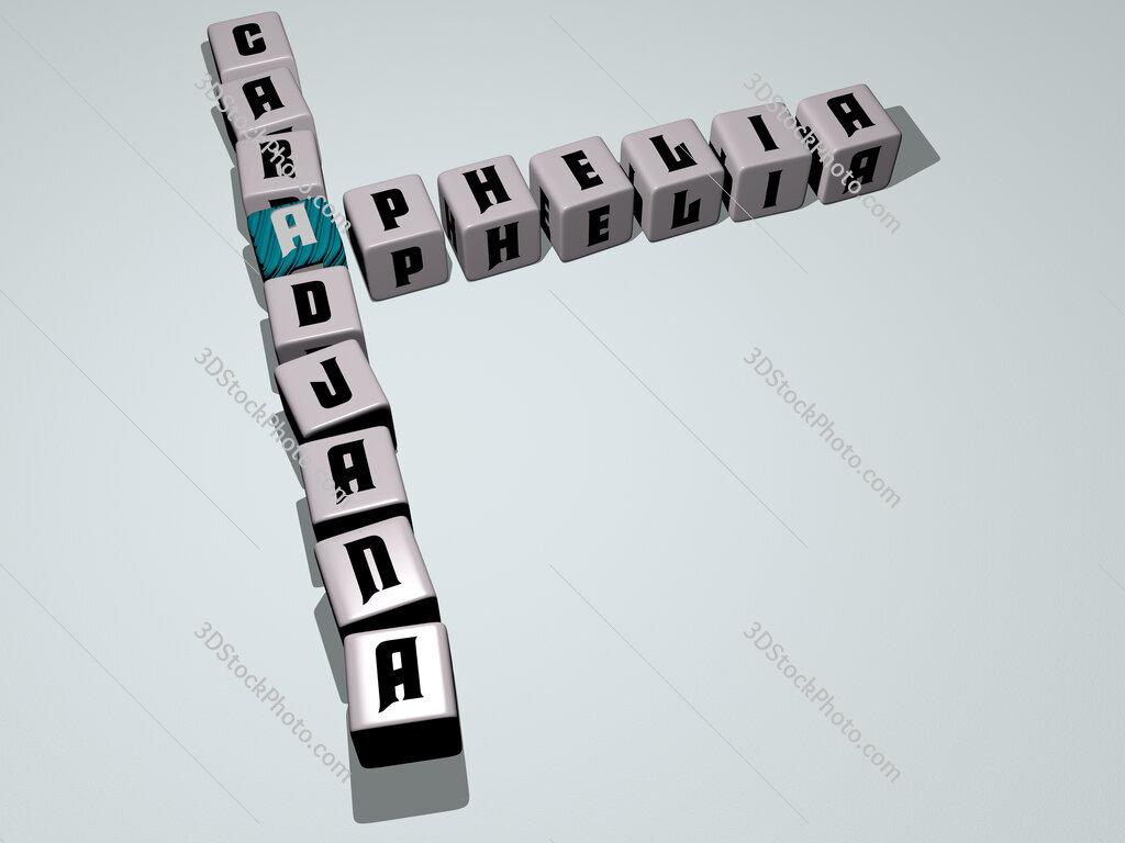 Aphelia caradjana crossword by cubic dice letters