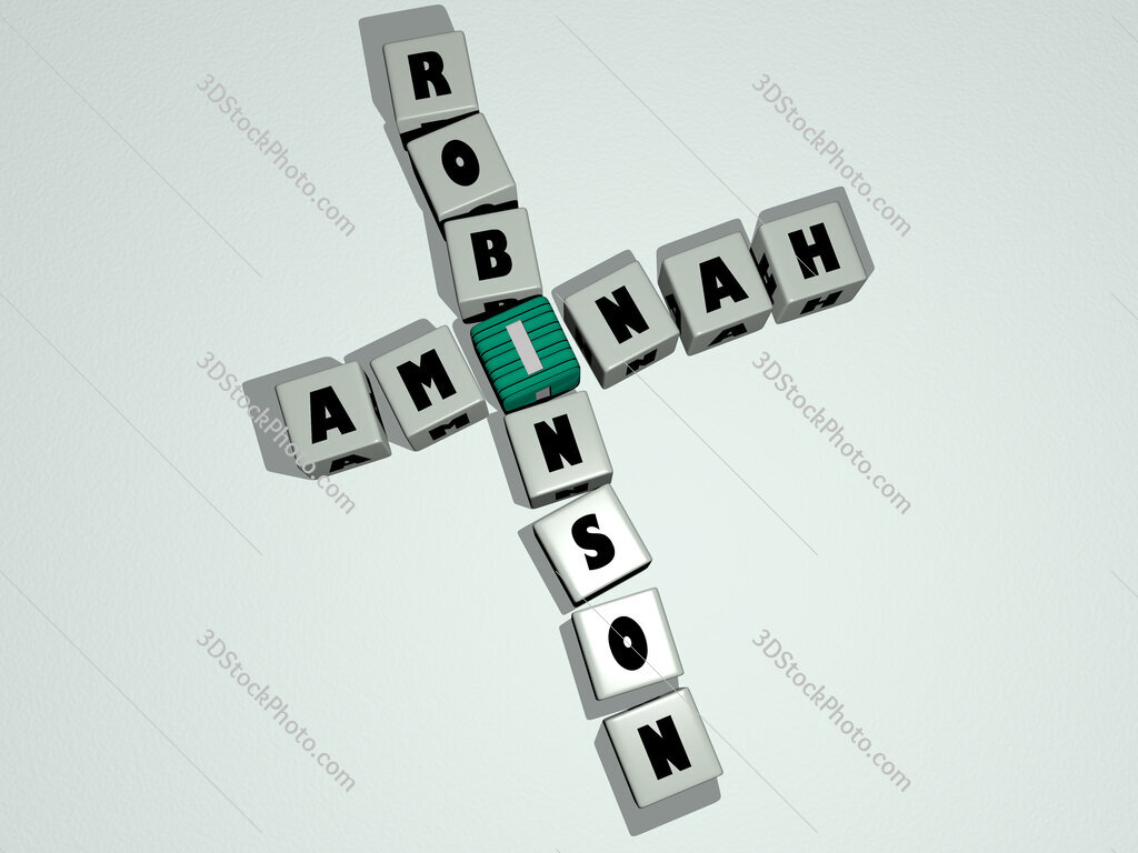 Aminah Robinson crossword by cubic dice letters