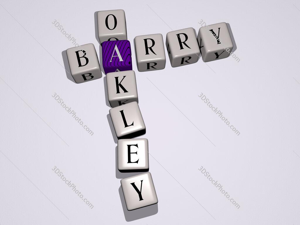 Barry Oakley crossword by cubic dice letters