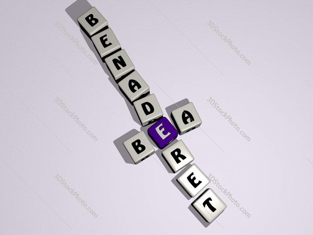 Bea Benaderet crossword by cubic dice letters