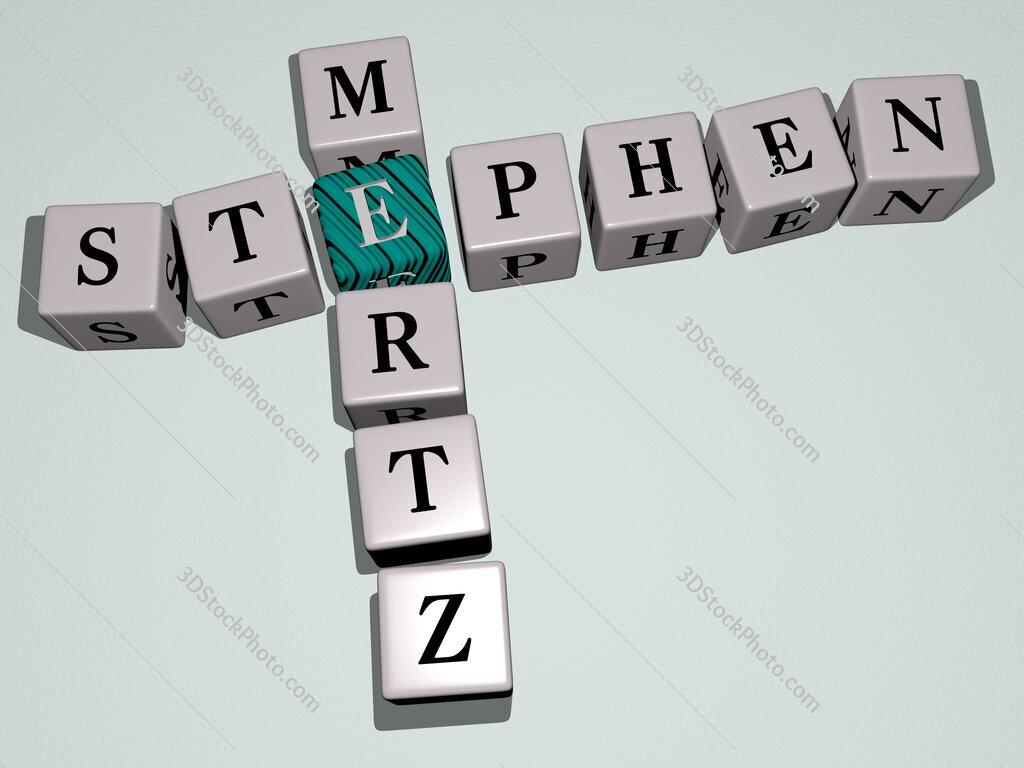 Stephen Mertz crossword by cubic dice letters